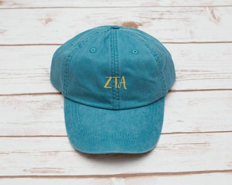 Sorority Gift, Sorority Hat, Dad Hat, Baseball Hat, Alpha Phi, Zeta Tau Alpha, Phi Sigma Sigma, Personalized Hat, Custom