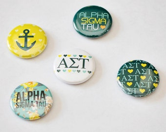 "Alpha Sigma Tau 1"" Buttons"