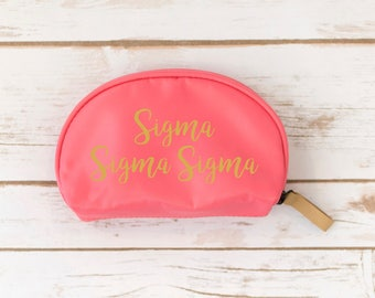 Alpha Gamma Delta Make up Pouch, Sorority, Make up bag, Zipper Pouch, Sorority Gift