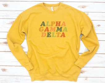 Sorority Sweatshirt, Colorful, Vintage, Sorority gift, Sorority shirts, Big Little Reveal, Phi Sigma Sigma, Alpha Sigma Alpha, Fleece