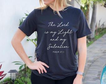 Christian Shirt, Jesus, Lord is my Light, Women's shirt, Christian, Bible