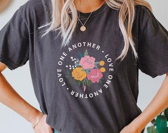 Christian Shirt, Love One Another, Comfort Colors, Retro, Vintage, Jesus, Love shirt, Women's shirt, gift for women, birthday, Christmas