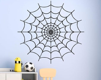 sticker decal car bike bumper halloween spooky kid horror macbook spider web