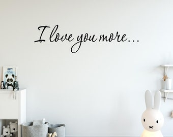 Vinyl Decal I Love You PLS03 I Love You Always Wall Decal