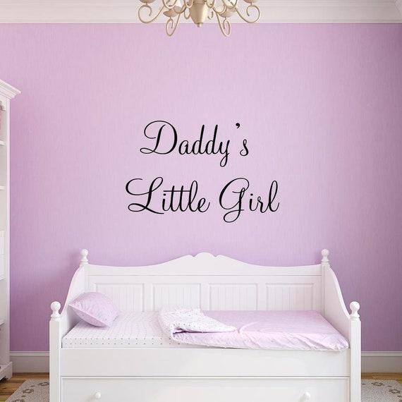 Nursery Wall Decal - Daddy\'s Little Girl Wall Quotes - Baby Girls Room  Vinyl Sticker - VWAQ-137