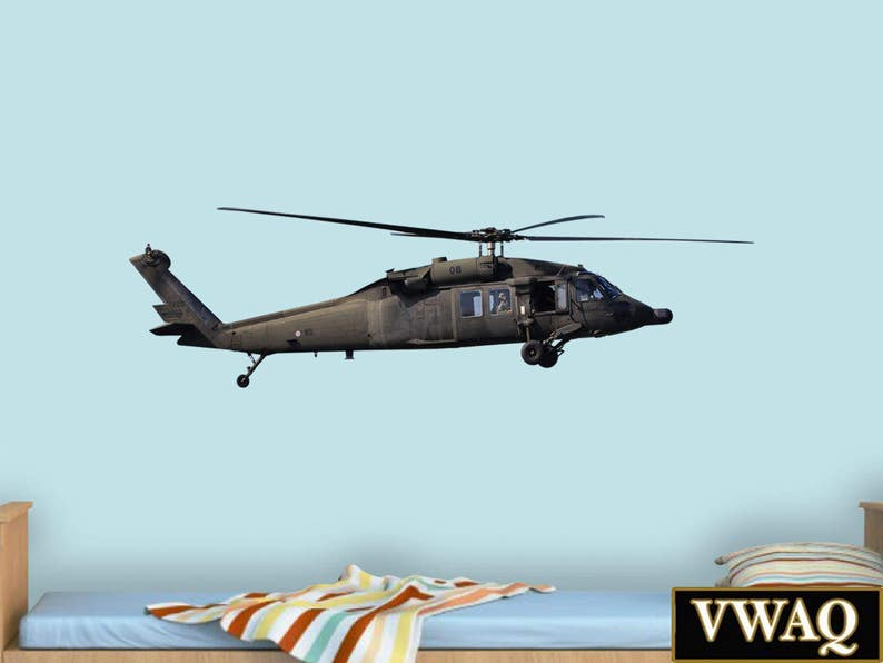Blackhawk Helicopter Wall Decal - Military Helicopter Sticker Art, Aviation  Decor VWAQ-PAS20