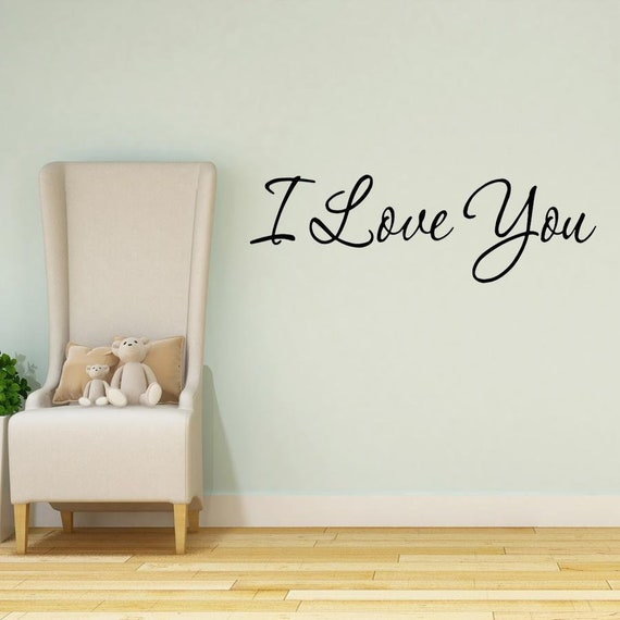 I Love You Wall Decal Quotes Home Decor Sayings Wall Decals Couples Love Wall Decor Vwaq 5074