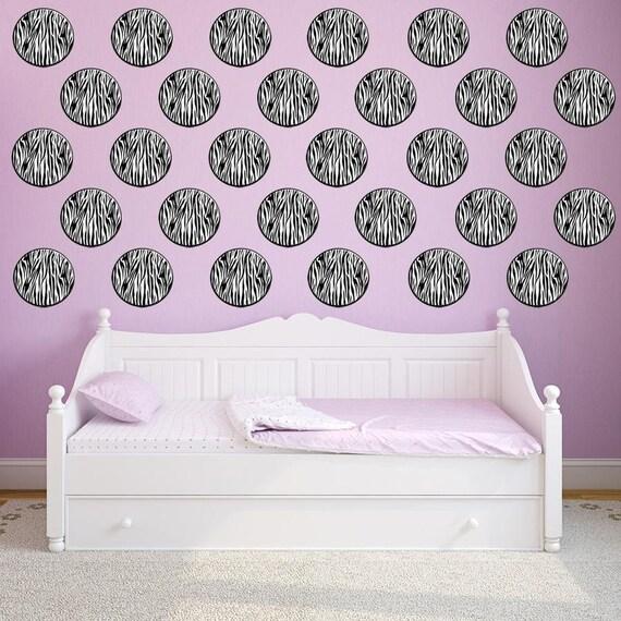 Personalized Zebra Print /& Polka Dots Bathroom Accessories Set