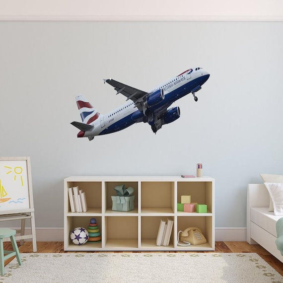 Vintage Planes Peel /& Stick Border Wall Mural Stickers