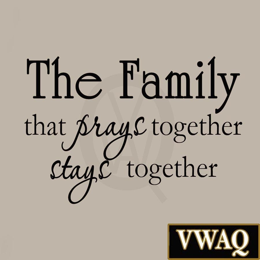 The Family That Prays Together Stays Together Christian Etsy