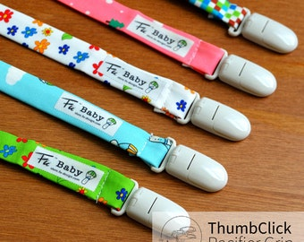 Fu-design Thumbclick (Open with one hand) Graphic Pacifier Grip/Paci Clip/Toy Clip/Toy Holder