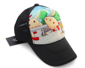 Fu-design Kin Man Adjustable Trucker Hat