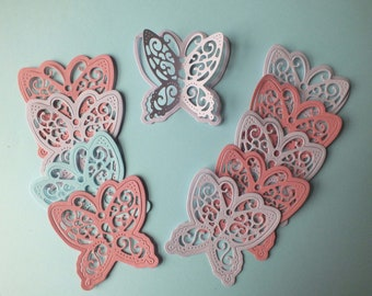 50  MIXED LARGE  CARD BUTTERFLY DIE CUT PUNCH SCRAPBOOK EMBELLISHMENTS CRAFTS