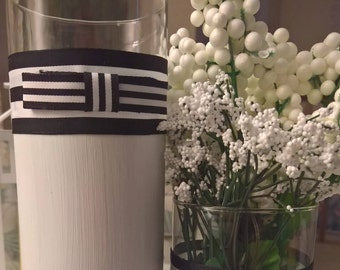 Simply Chic - Black & White Cylinder Vase