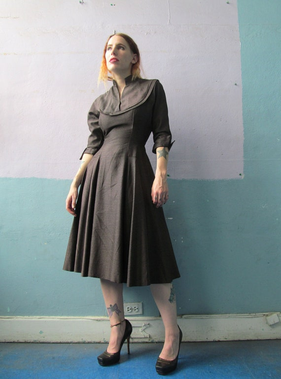 Vtg 40s Cocktail Dress