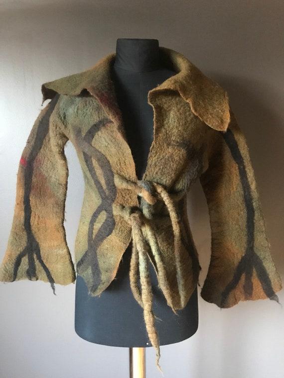 Felted Art Coat / Avant Garde