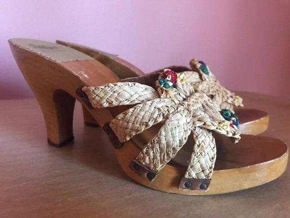 Vtg Idlelizers / Tiki Heels / 50s Italian Wooden … - image 1