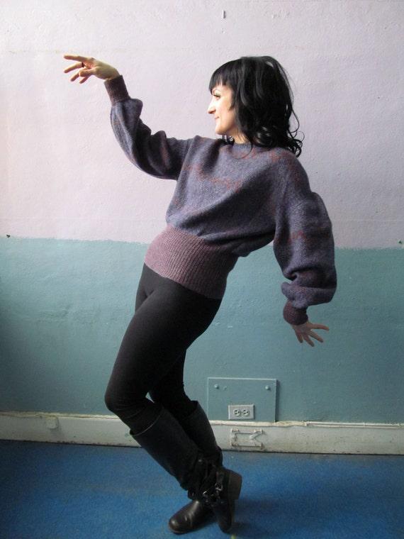 Vtg 70s Fendi Sweater / Mohair Blend / Poofy Puff