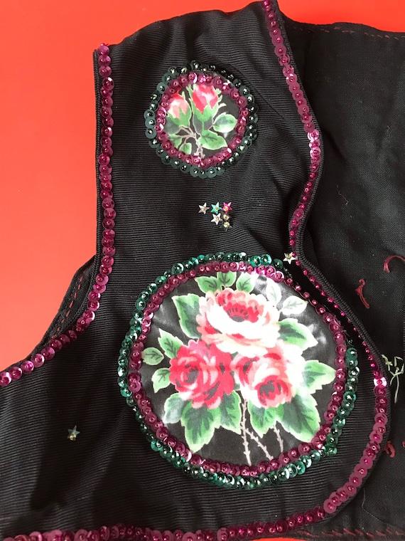 Vtg Girls Polish Handmade Folk Vest