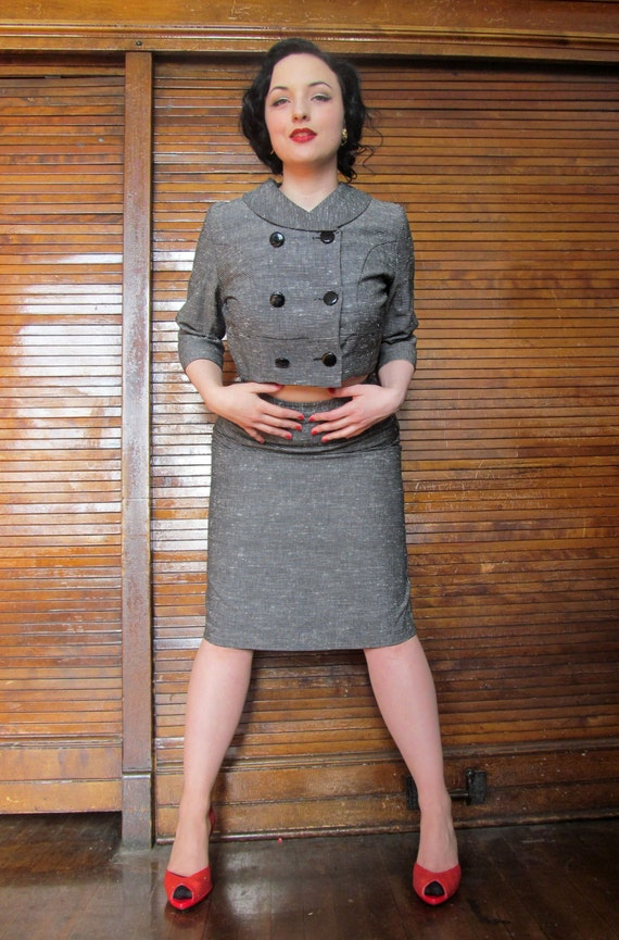 Vtg 40s 50s Skirt Suit / Holiday / Bombshell - image 4