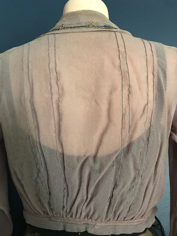 Antique Victorian Edwardian Sheer Blouse Top - image 7
