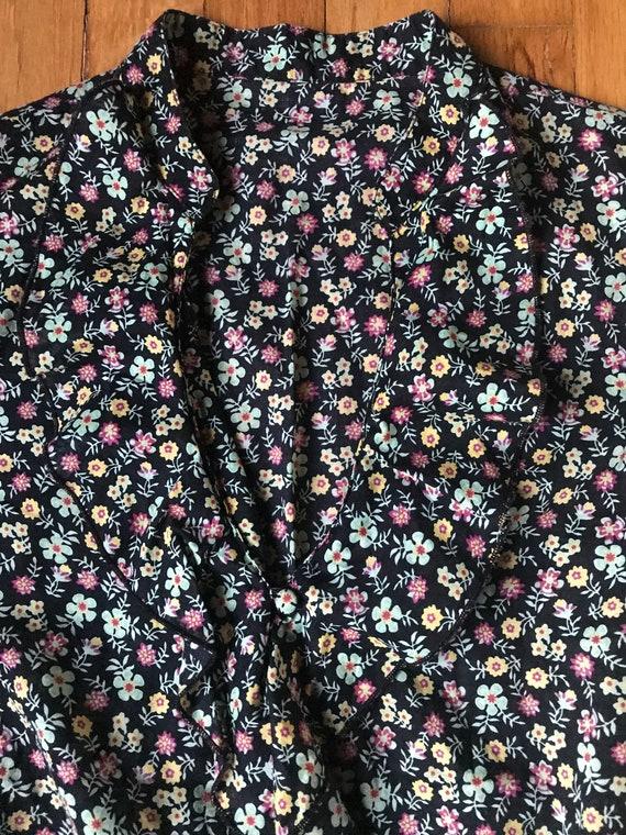 Vtg 70s Floral Folk Prairie Blouse - image 3