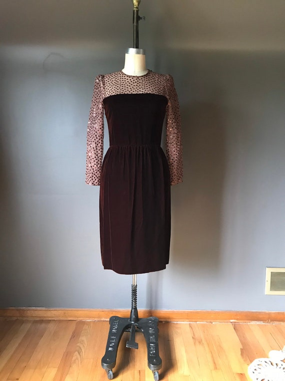 Vtg 70s 80s Bill Blass Cocktail Dress