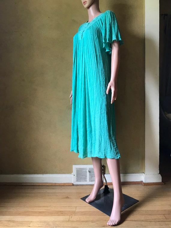 Vtg 70s 80s Gauze Dress - image 4