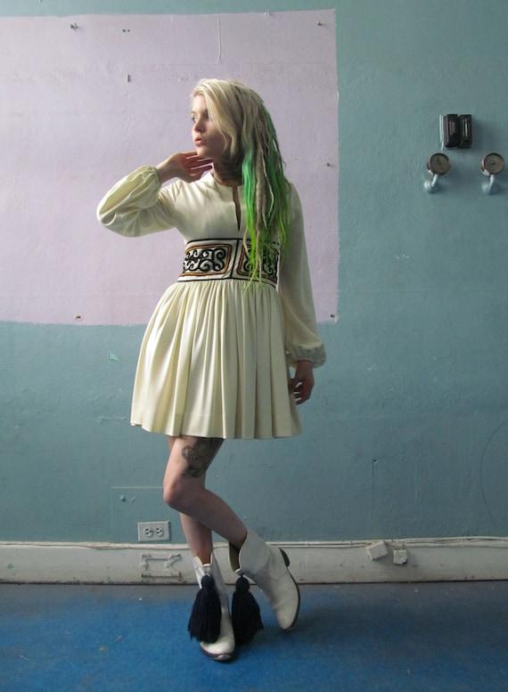 Vtg 70s Ethnic Dress / Folk Dress / Hudson's