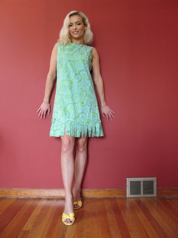 Vtg 60s Lilly Pulitzer Psychedelic Dress / Woodwar