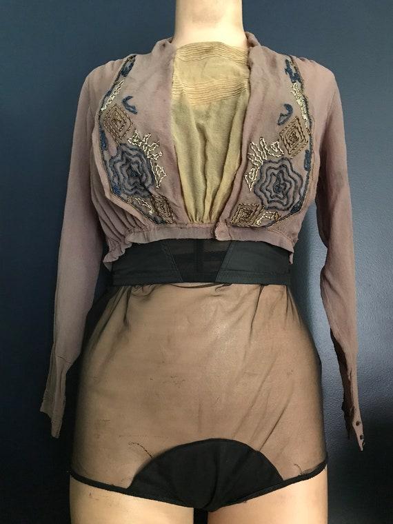 Antique Victorian Edwardian Sheer Blouse Top - image 5