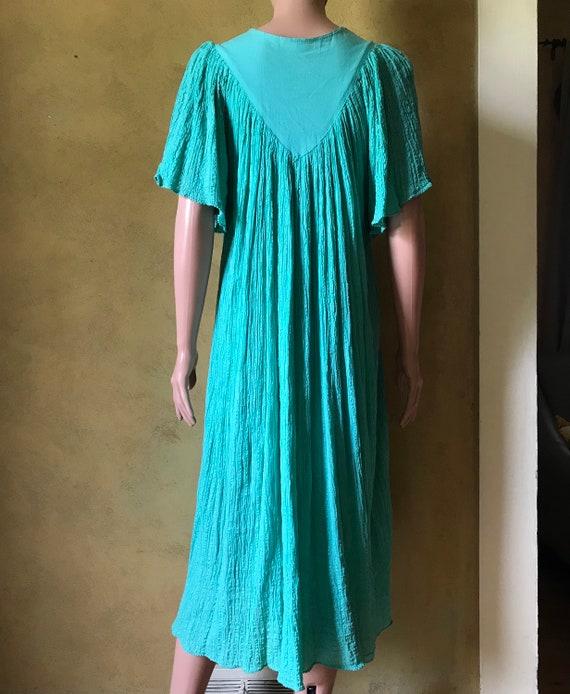 Vtg 70s 80s Gauze Dress - image 3