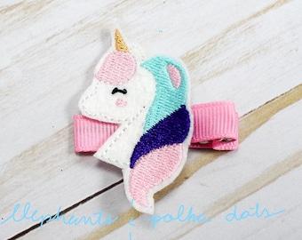 Unicorn Feltie Hair Clip