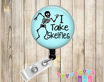 Retractable Badge Reel Name ID Pull Clip Holder CT Technologist Technician Tech