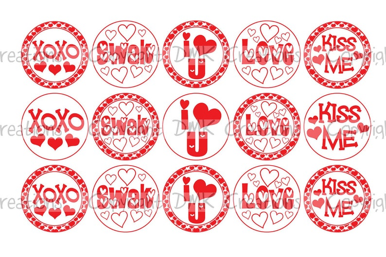photo about Printable Bottlecap Images identify SWAK Valentine Bottle Cap Photographs 4x6 Printable Bottlecap Collage Immediate Down load