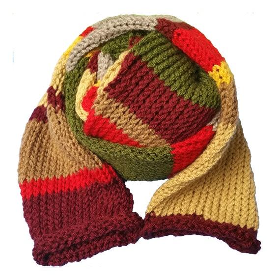 Loom Knit Tom Baker Scarf Etsy