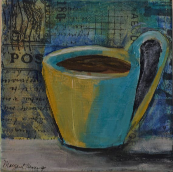 Cup Mixed Media Painting
