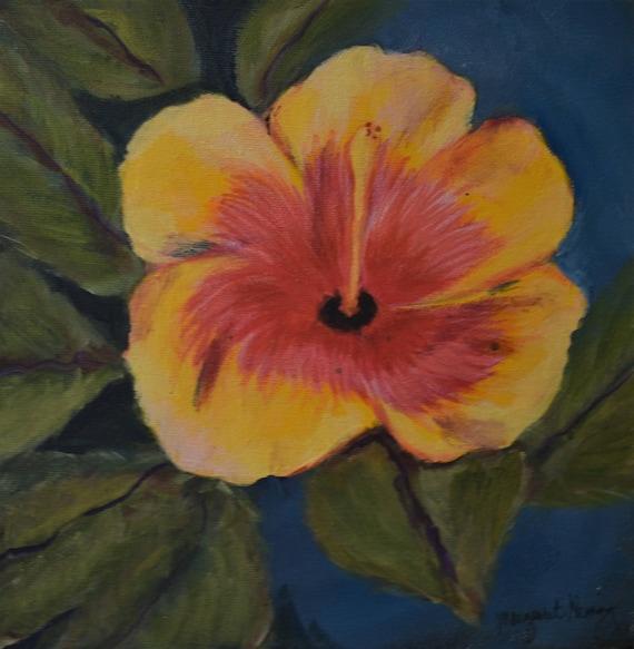 Hibiscus Flower Original Acrylic Painting