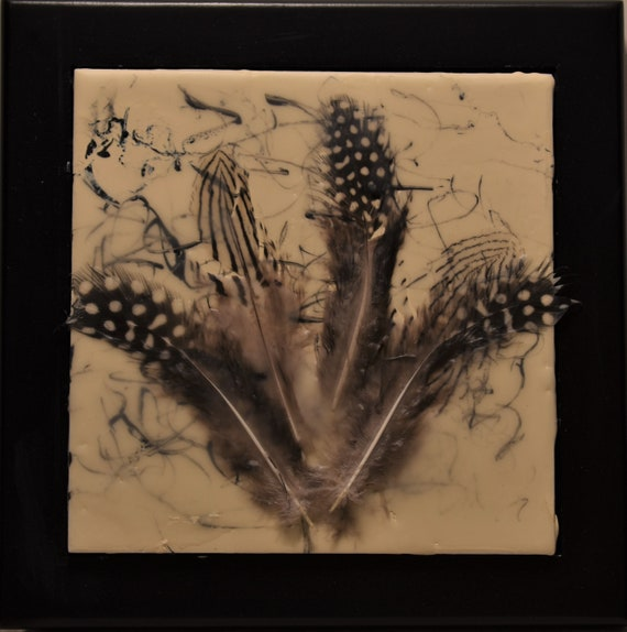 Feather Grouping Encaustic painting