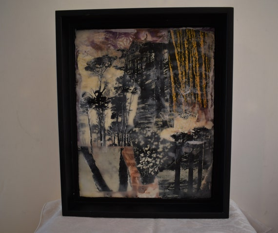 Trees  - Encaustic Collage