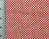 Rust and White Check fabric by the yard , 100 Cotton , Brown and cream , Small squares Rust Brown Checkerboard Fabric
