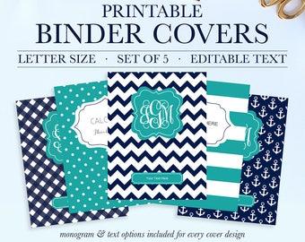 Personalized Binder Cover Printable, Student Printable Binder Covers and Spines, Teacher Binder Insert, School Binder Cover, Binder Spine