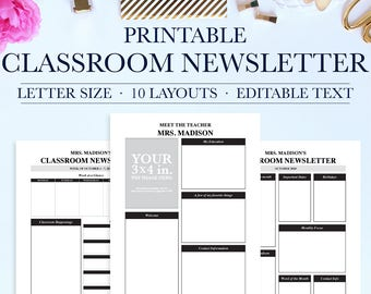 Newsletter template | Etsy