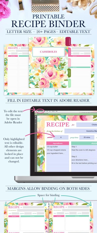 family recipe binder kit personalized recipe book binder etsy