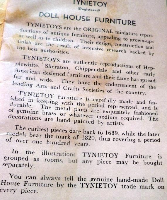 RARE Vintage TYNIETOY HIGHBOY Dresser Dollhouse Miniature