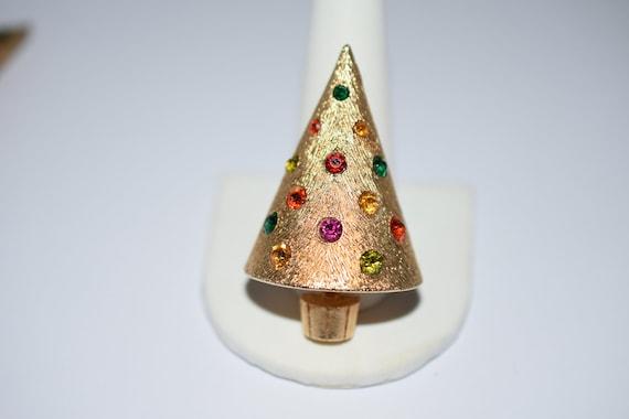 Corocraft, Christmas, Tree, Brooch