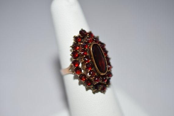 Victorian, Rose Gold, Garnet Ring