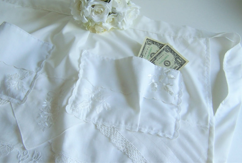 Money Dance Wedding.Bride S Dollar Dance Wedding Apron Made From Vintage Handkerchiefs For A Wedding Reception Money Dance Something Old Gift Ready To Ship
