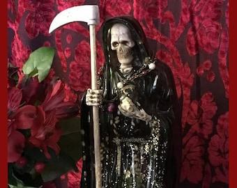 Santa Muerte Prayer Card - praise and thanks - Holy Death - bilingual