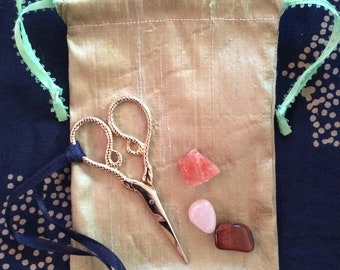 Small Silk Tarot Bags - witchy bags, spell bags